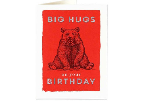 Big Hugs Bear - Birthday Card