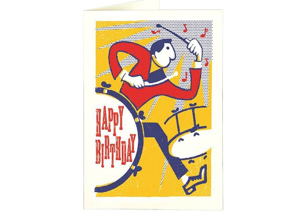 Cool Drummer - Birthday Card