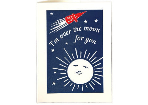 Over the Moon for You - Congratulations Card