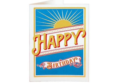 Sunburst - Birthday Card