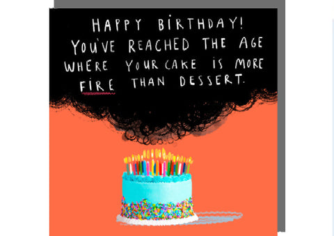 Cake Fire- Greeting Card by Rosie Made a Thing
