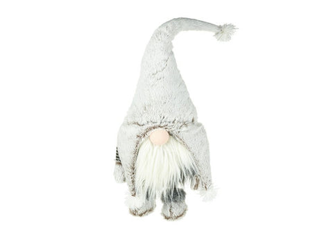 White Fabric Santa with Shaking Body