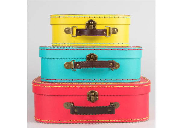 Bright Retro Suitcases - Set of 3