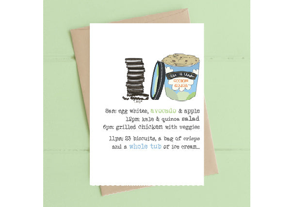 Diets and Ice Cream - Birthday Card