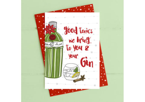 Good tonics we bring....Christmas Card