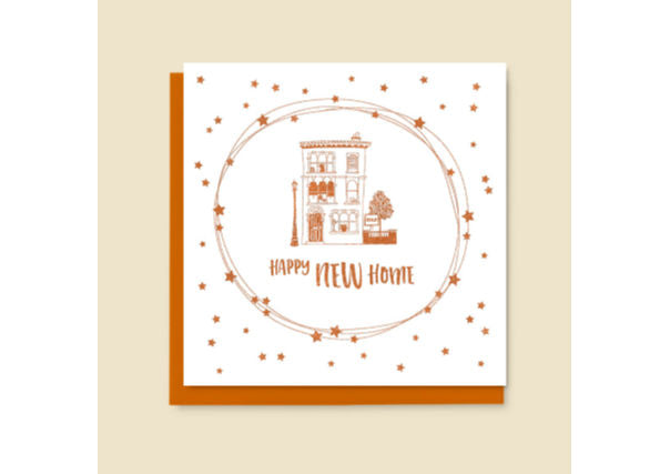 New Home Card  - quirky coo, gifts, cards, dundee, perth, aberdeen