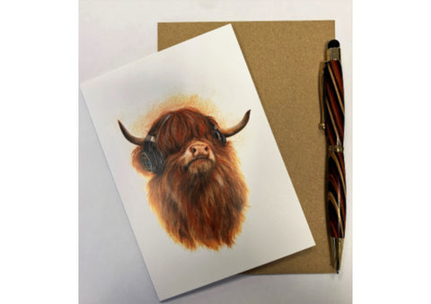 Highland Cow Beats - Scottish Card