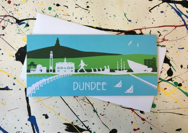 Dundee Skyline Greeting Card