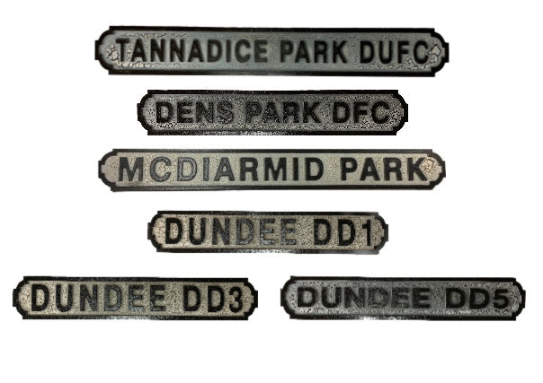 Retro Football/Street Signs