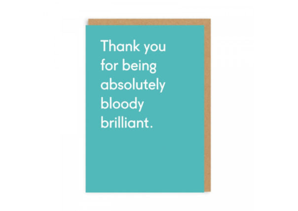 thank you card - cool and quirky cards - scotland perth dundee