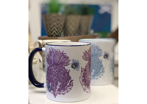 Scottish Thistle Mug by Gillian Kyle