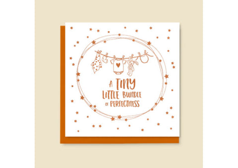 New Baby Tiny Little Bundle Card