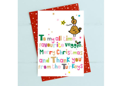 Christmas Vegetarian Card