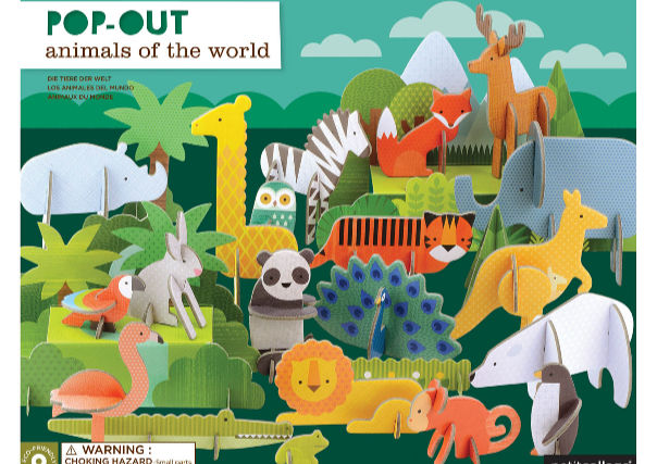 Animals of the World Pop Out Set by Petit Collage