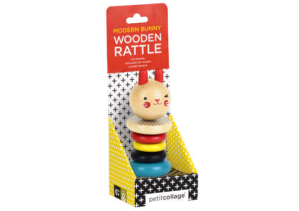 Bunny Wooden Stacker Rattle by Petit Collage