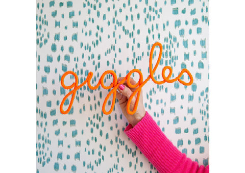 Giggles Rope Word Orange