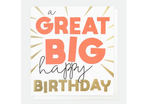 Great Big Happy Birthday - Caroline Gardner Birthday Card