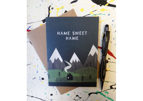 Scottish home sweet home card - quirky cards gifts dundee, perth, aberdeen