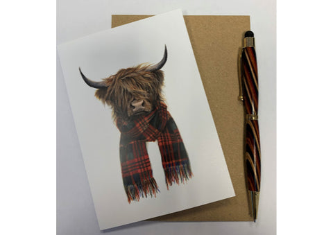 Highland Cow Hipster - Scottish Card