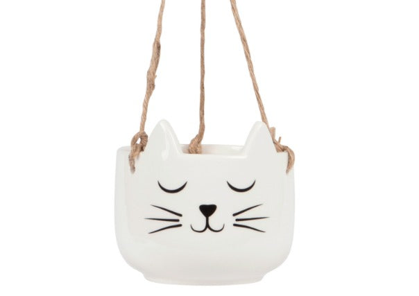 Cat Face Hanging Planter