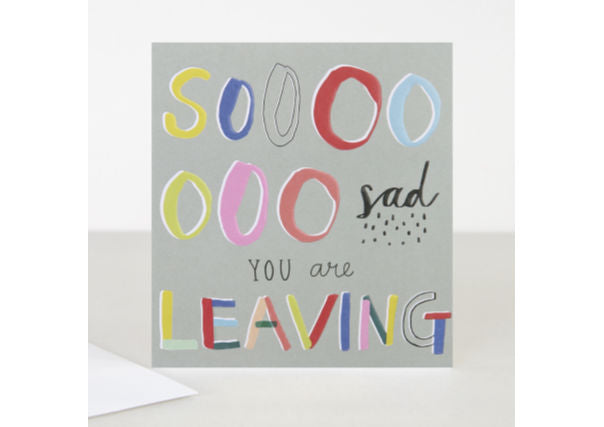 caroline gardner leaving card - quirky coo, cards gifts dundee perth aberdeen