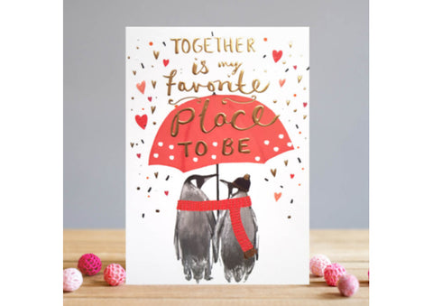 Together is my favourite place - Valentine's Card
