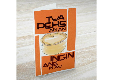 Twa Pehs Greeting Card