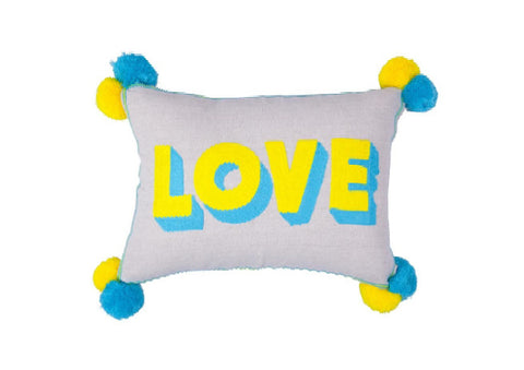 LOVE Cushion on linen