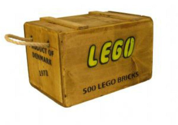 Vintage Lego Box - quirky coo, gifts, perth dundee