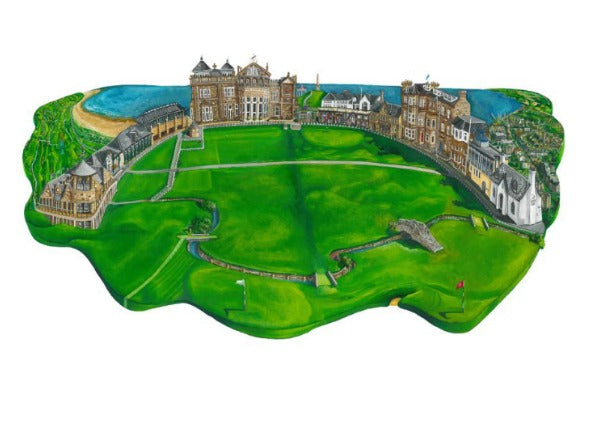 St Andrews Print by Nik Kleppang - quirky coo ,gifts, perth dundee