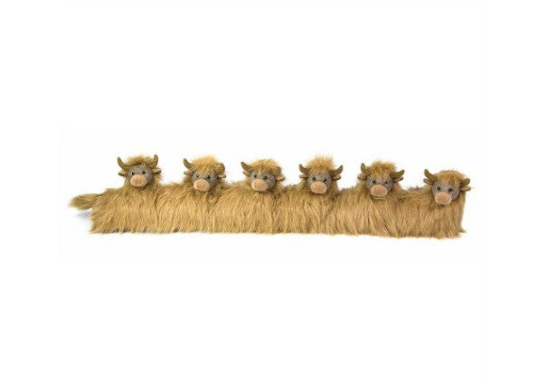 Highland COw Draught Excluder Dora Designs - quirky gifts, perth, dundee