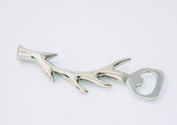 Stag Antler Bottle Opener in stainless steel - Quirky Coo