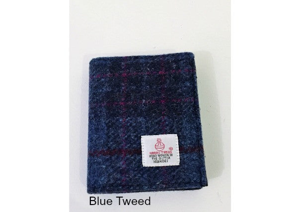 Harris Tweed Gents Wallet - Quirky Coo, gifts, dundee
