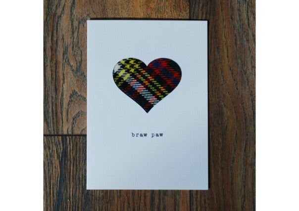 Braw Paw card -quirky coo, gifts, cards, dundee, scottish