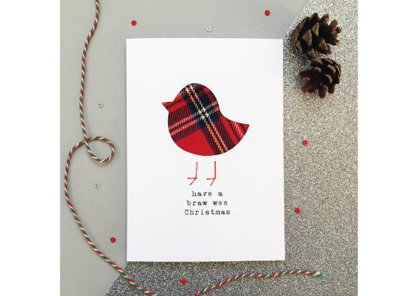 Braw Wee Christmas Card - scottish christmas cards, perth dundee