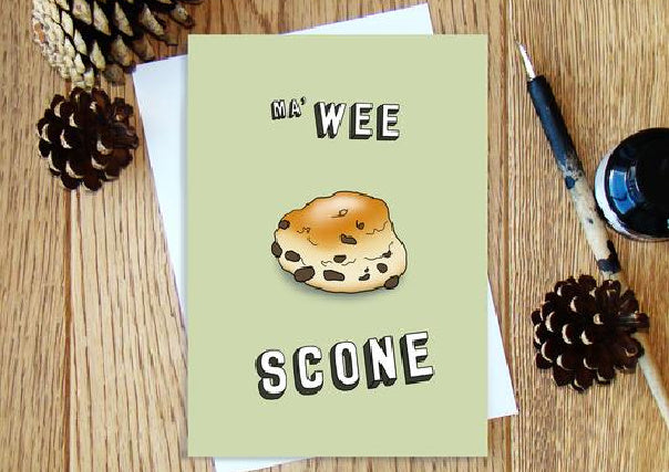 Ma' Wee Scone - Greeting Card