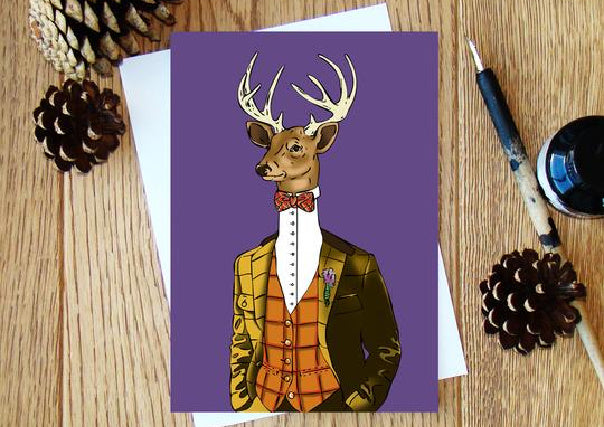 Scottish Stag Greeting Card