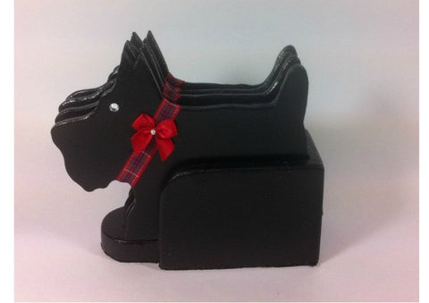 Set of 4 Scottie Dog Coasters