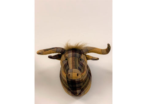 Highland Cow Trophy Head by Dora Designs