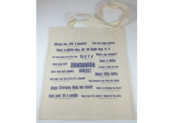 Dundee Dialect Shopping Bag - quirky coo, scottish gifts, cards, dundee, scotland