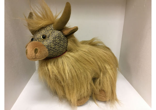 Fergus the hairy highland cow doorstop by Dora Designs