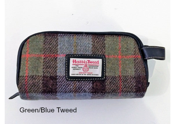 Harris Tweed Washbag - Quirky Coo, gifts, perth, dundee