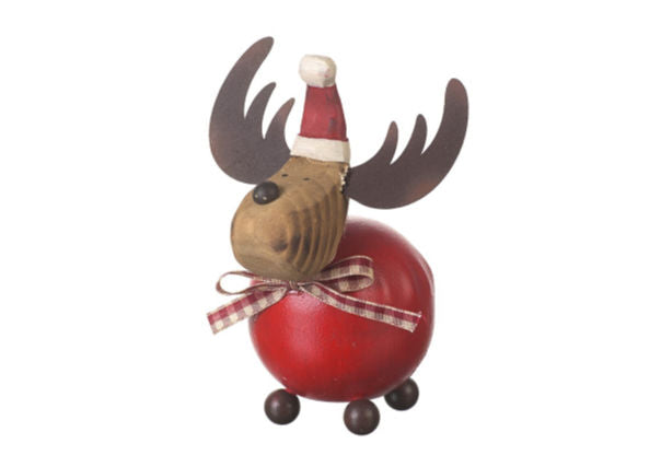Round Christmas Reindeer Decoration