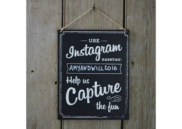 Instagram Sign - wedding decorations, quirky, perth, dundee