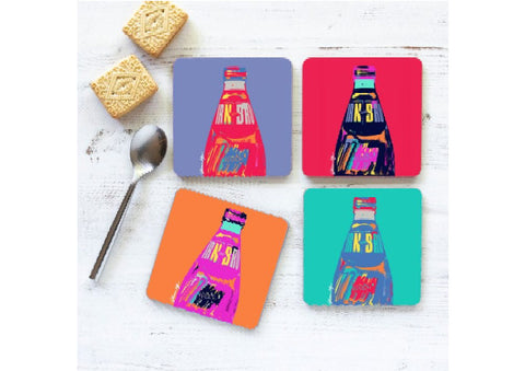 Irn Bru coaster set by Gillian Kyle