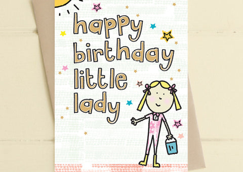 Little Lady - Birthday Card