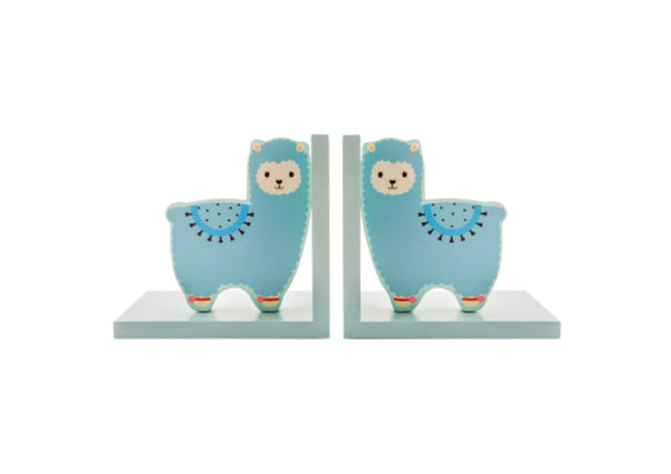 Llama bookends - kids decor, nursery, dundee, gifts, scottish