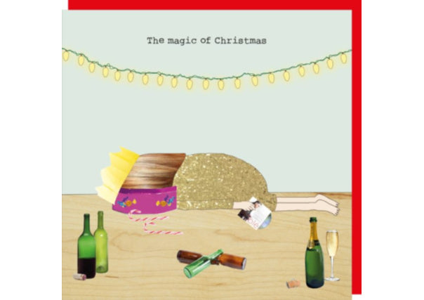 Face in quality street christmas card - quirky coo, gifts, perth dundee