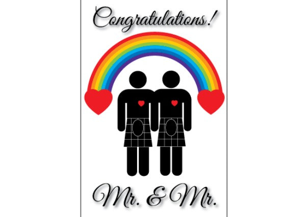 Mr & Mr Card, Quirky Coo, scottish cards gifts, Dundee, perth, aberdeen