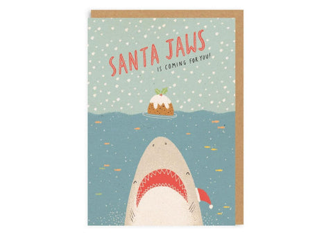Santa Jaws - Christmas Card